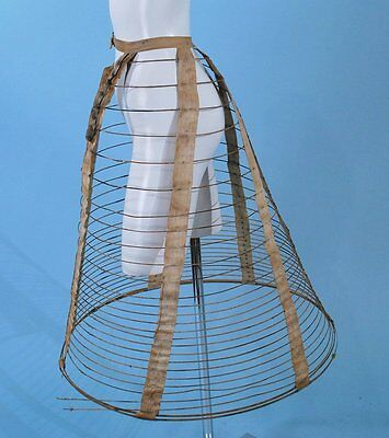 1870 STEEL HOOP FOUNDATION CRINOLINE WITH TAPES