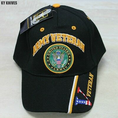 NEW Officially Licensed United States ARMY Veteran Hat, Black CAP-591B zix