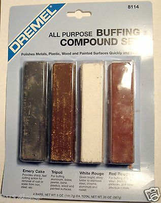 Dremel Jewelry Metal Plastic Buffing and Polishing Compound Set four 5oz Bars
