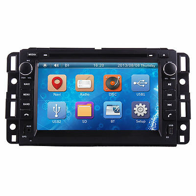 "HD LCD 7"" 2Din Car dvd player Radio GPS TV Ipod FR Chevrolet Silverado 2007-2012"