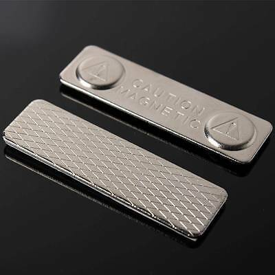45mm X 13mm Metal Strong Magnetic Name ID Tag Badge Fastener Holder Card Tag