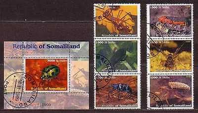 Insects Somaliland S/S+ 6 stamps