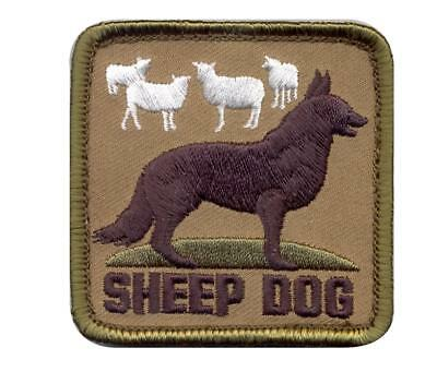 """Rothco Sheep Dog Patch with Hook Backing, 2.5"""" x  2.5"""""""