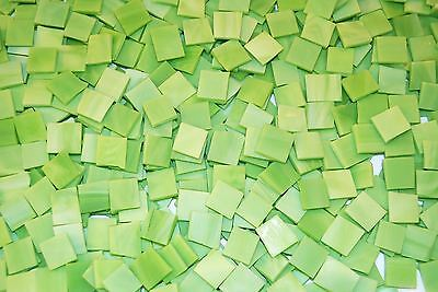 """100 1/2"""" Spring Green Tumbled Stained Glass Mosaic Tiles"""