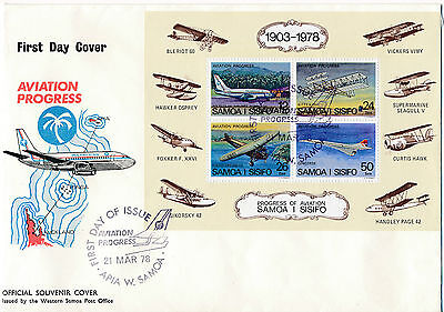 2 First Day Covers 1978   Samoa, Airplane, Flugzeuge   20/1/15
