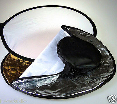 """RF60 24"""" 60cm 5 in 1 Portable Photography Multi Photo Disc Collapsible Reflector"""
