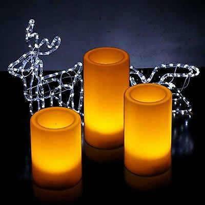 Kohree Flameless LED Candles Light with Remote Control & Timer , Pillar New