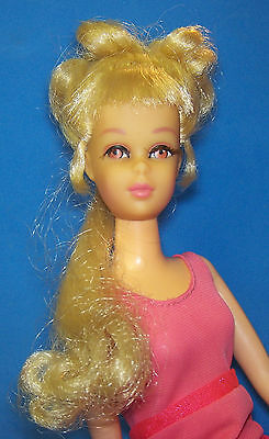 Vintage #1129 Blonde Francie Doll with Growin' Pretty Hair 1970 +Hairpieces 1074