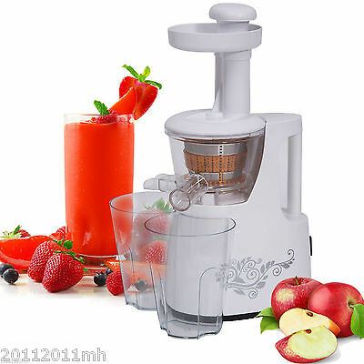 HOMCOM 150W Electric Powered Slow Juicer Vegetable Fruit Extractor White