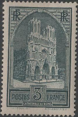 """FRANCE STAMP TIMBRE N° 259 """" CATHEDRALE REIMS 3F TYPE I """" NEUF xx TTB  H253"""