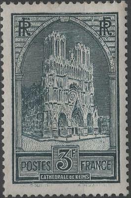 """FRANCE STAMP TIMBRE N° 259 """" CATHEDRALE REIMS 3F TYPE I """" NEUF xx TTB  H254"""