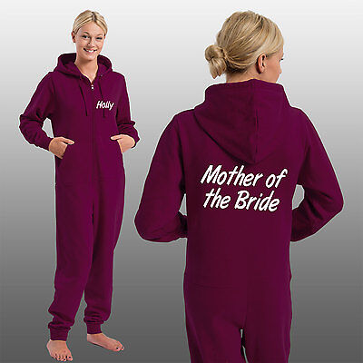 Mother of The Bride Onesie Personalised With Any Name - Custom Wedding Onesies