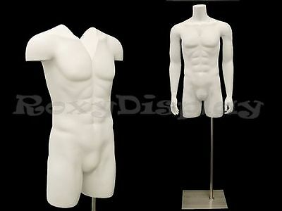 Male Fiberglass Invisible--Ghost Mannequin Manikin Torso Form #MD-TMW-IV