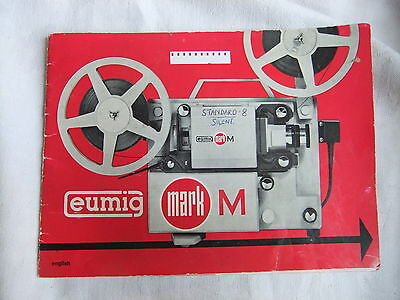 Instructions cine projector Eumig mark M  - CD/Email