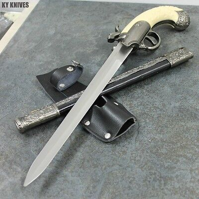 """Fantasy Master NEW Civil War Knife Display 15"""" Overall With Holster FM-570 zix"""
