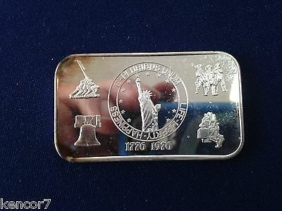 1976 American Mint Life Liberty Happiness AM-9 Silver Art Bar  P1785