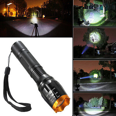Powerful Zoomable Waterproof 2000lm CREE XM-L T6 LED 18650 Flashlight Torch Lamp