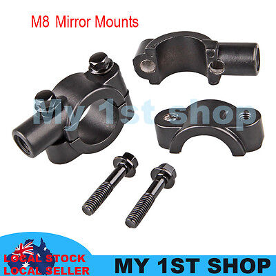 2x8 mm Mirrors Adaptor Mount Brackets Universal Motorcycle dirtbike MX handlebar