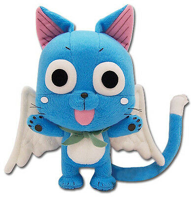 "Fairy Tail Anime Happy 8"" Plush Toy New w/ Tag Officially Licensed"
