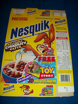 DISNEY British NESQUIK CEREAL BOX TOY STORY Hologram PROMO Nestle GENERAL MILLS