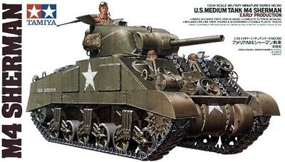 Tamiya 1/35 Scale Plastic Model Kit M4 Sherman Early Production Ta35190