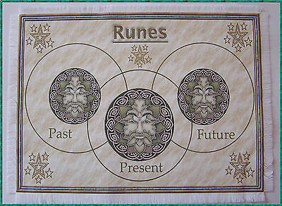 Rune Casting Mat for use with Runes, Wiccan, crystals divination, Druid, Scrying