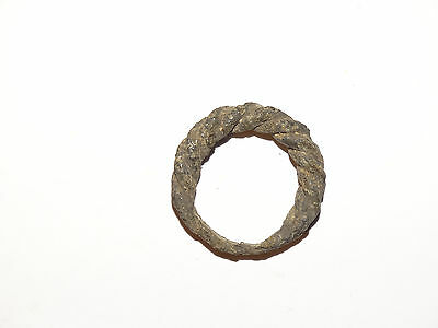 Perfect Viking twisted uncleaned finger ring . ca 8-10 AD. Kievan Rus.Viking.