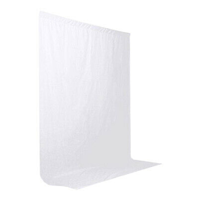 BDSW WHITE Photography Backdrop 1.8m x 2.7m /6ft x 9ft  100% Cotton Muslin backg