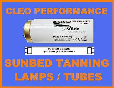 8  X BRAND NEW CLEO PERFORMANCE 6FT 100w TANNING LAMPS FOR PHILIPS SUNBEDS ETC