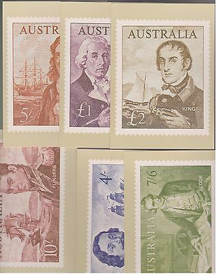 1960's? Australia Philatelic Postcards by the Stamp Factory Cards - 6 Full Sets