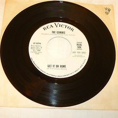 Northern Soul Girl Group 45 Rpm Record - The Geminis - Rca Victor 47-8794 - Dj