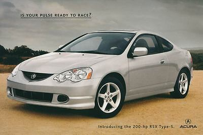 2002 Acura RSX Type S ORIGINAL Large Factory Postcard my2206