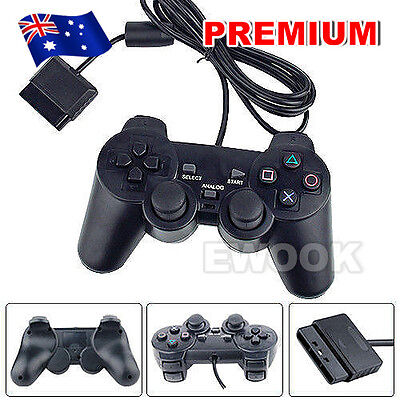OZ L Dual Shock Gamepad Wired Joypad for Sony Playstation 2 PS2 Controller