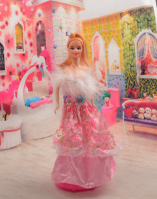 2014 Hot style Fashion Handmade princess  party Clothes dress For Noble Doll D08