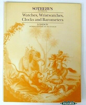 Sothebys Watches Wristwatches Clocks & Barometers 1987