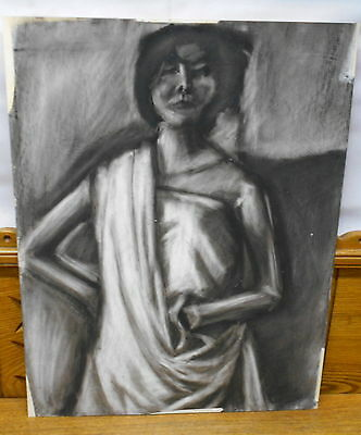 Charcoal Drawing Of Woman - Eliza