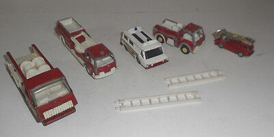 VINTAGE 1970s  lot of 5  Toy Fire Trucks  TONKA CORGI TOOTSIE &  MORE