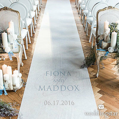Contemporary Vintage PERSONALIZED Aisle Runner Wedding Ceremony Decoration
