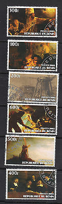 Benin 2003 Paintings of Rembrandt Unauthorized Issue Cancelled NH Set of 6