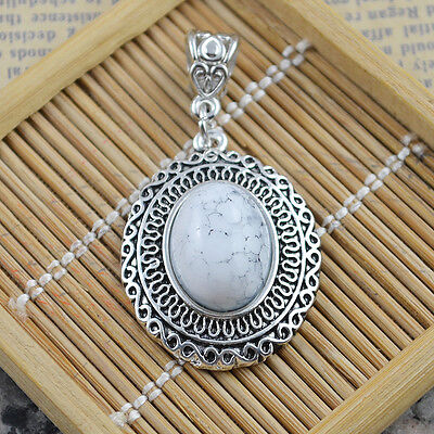 New Classical Natural hot Turquoise cute tibet silver Pendant    *&*xL1023