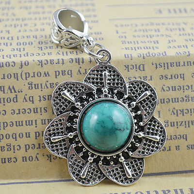 New Classical Natural hot Turquoise cute tibet silver Pendant    *&*xL1119