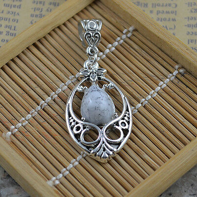 New Classical Natural hot Turquoise cute tibet silver Pendant    *&*xL1088