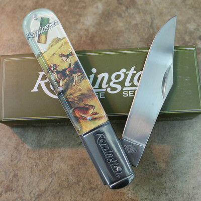 "Remington Pocket Knife 5"" Large Barlow High Strung and Ready to Run RE17603 zix"