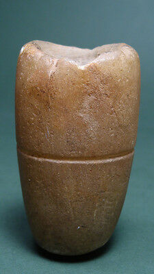 ANCIENT COSMETIC KOHL CONTAINER ALABASTER 2nd-1st MILLENNIUM BC