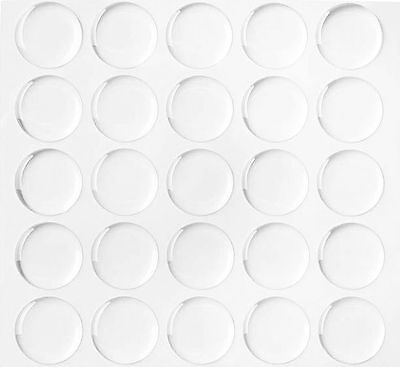 "900/4200/6000 1"" Dome Circle Epoxy Stickers for Bottle Caps Crafts 2MM THICKNESS"