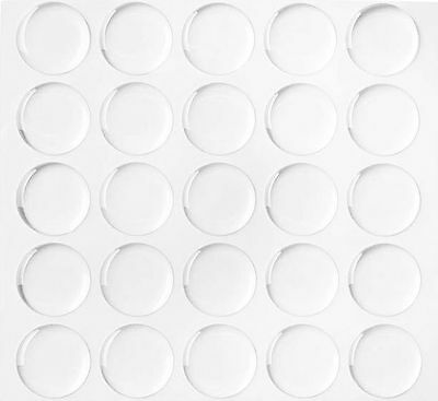"""900/4200/6000 1"""" Dome Circle Epoxy Stickers for Bottle Caps Crafts 2MM THICKNESS"""