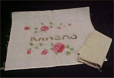 Vintage Antique Pillow Kansas Roses Pillow Sham Project Royal Society Style