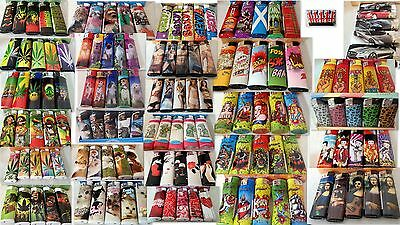 5 Assorted Gift  Electronic Refillable Lighters Select Print Pets Weed Leaf Love
