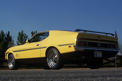 Ford : Mustang Mach 1 Awesome 1972 Ford Mustang Mach 1 Nicely Restored Low Mileage A/C Show and Go!!