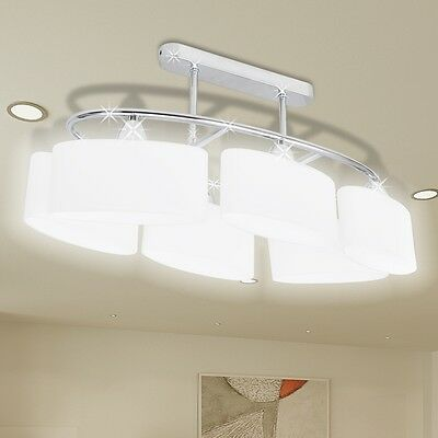 New Ceiling Lamp Ceiling Light Fixture 6 Ellipsoid Glass Shades Home Lighting
